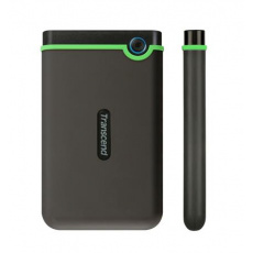 """Externí disk 2,5"""" 2TB Transcend StoreJet TS2TSJ25M3, USB 3.0, šedo/zelený"""