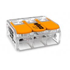 Elektro WAGO Spojovací svorka COMPACT pro všechny druhy vodičů, Max. 6 mm², 3 vodiče s páčkami