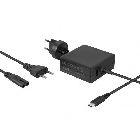 AVACOM nabíjecí adaptér USB Type-C 65W Power Delivery + USB A