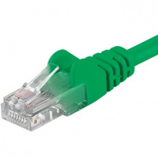 PremiumCord Patch kabel UTP RJ45-RJ45 CAT6 1m zelená