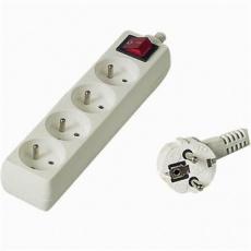 Prodlužovací přívod 230V, 7m,4 zásuvky + vypínač