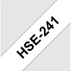 HSE241 smršťovací bužírka, bílá/černá, šíře 17,7mm