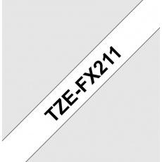 TZE-FX211, bílá / černá, 6mm