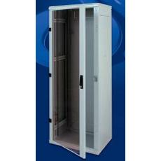 Stojanový rozvaděč 15U (š)600x(h)800, skleněné dveře