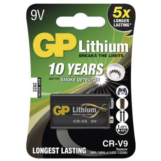 GP CR-V9, 9V, 1ks, lithiová baterie