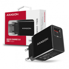 AXAGON ACU-QC19, QUICK nabíječka do sítě, 1x port Quick Charge 3.0, AFC/FCP/SMART, 19W