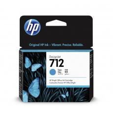 HP 712 Inkoustová náplň azurová; 3ED67A