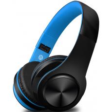 Bezdrátová sluchátka S5, černo/modré