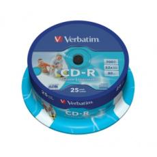 VERBATIM CD-R(25-Pack)Spindle/Printable/52x/700MB