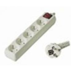 Prodlužovací přívod 230V, 5m, 5 zásuvek + vypínač