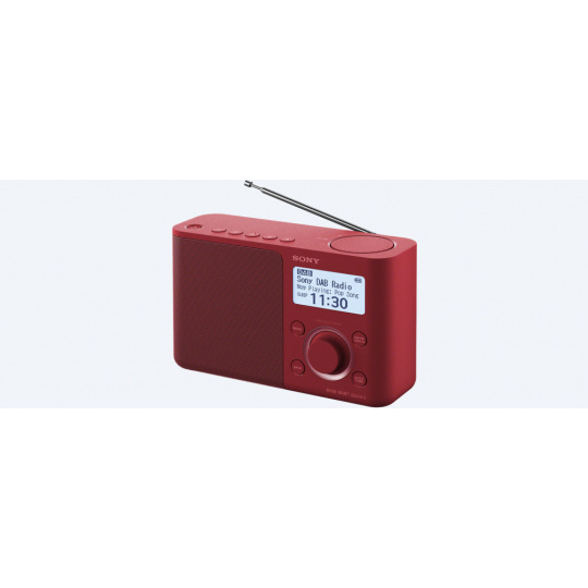 Sony rádio XDRS61DR.EU8 přenosné, červená