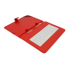 """AIREN AiTab Leather Case 4 with USB Keyboard 10"""" RED (CZ/SK/DE/UK/US.. layout)"""
