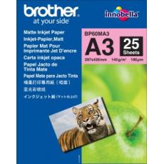Brother papír BP60MA3, 25 listů A3, foto matný, 145g
