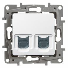 Niloé zásuvka datová 2-násobná 2xRJ45 cat.6 STP bí