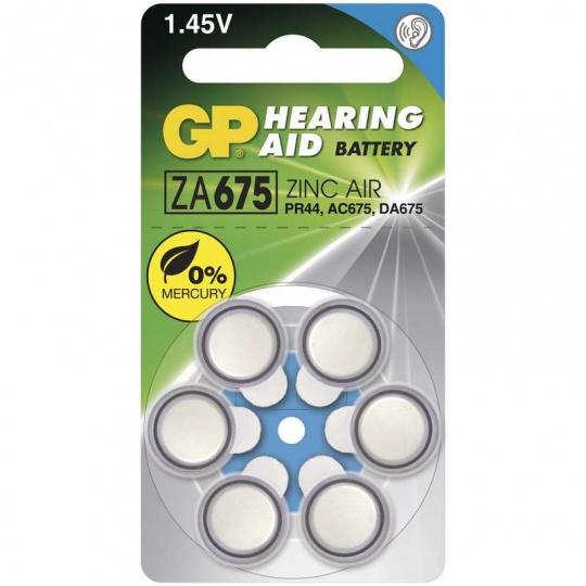 GP ZA675, 6ks, baterie do naslouchadla