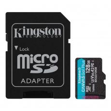 128GB microSDXC Kingston Canvas Go! Plus A2 U3 V30 170MB/s + adapter