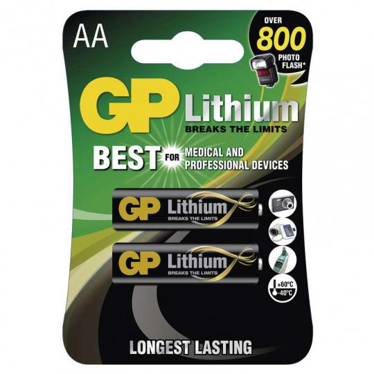 GP FR6, AA, 2ks, lithiová baterie