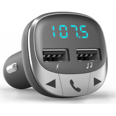 ENERGY Car Transmitter FM Bluetooth, 2x USB, microSD, 7-segmentový LED displej, Hands-Free