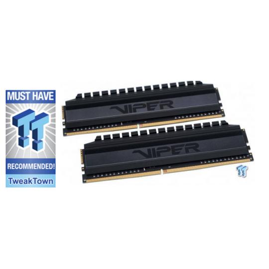 16GB DDR4-3600MHz Patriot Viper 4 Blackout CL17, kit 2x8GB
