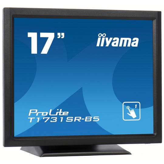 "17"" iiyama T1731SR-B5 - TN,SXGA,5ms,250cd/m2, 1000:1,5:4,VGA,HDMI,DP,USB,repro."