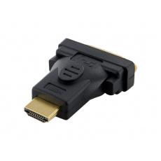 4World Adaptér HDMI M - DVI-D F 24+1 Black