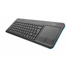 klávesnice TRUST Veza Touchpad Wireless CZ & SK
