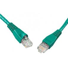 SOLARIX patch kabel CAT5E UTP PVC 3m zelený non-snag proof