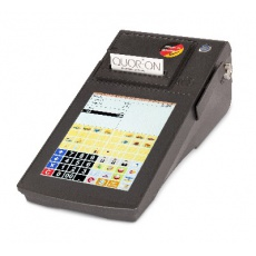 Registrační pokladna Qtouch 8 Black 2xRS, tisk. 80mm, Lan, Dallas, MSR