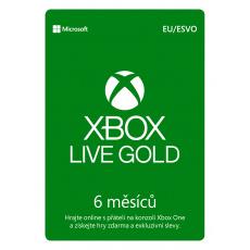 ESD XBOX - Zlaté členství Xbox Live Gold - 6 měsíců (EuroZone)