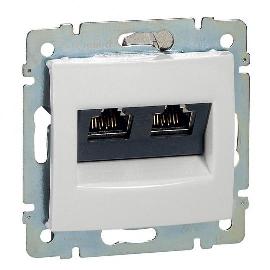 Valena zásuvka datová 2xRJ45 STP 10G bílá