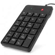 Numerická klávesnice C-TECH KBN-01, 23 kláves, USB slim, černá