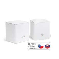 Tenda Nova MW3 (2-pack) WiFi AC1200 Mesh system Dual Band, 2x LAN/WAN, MU-MIMO, SMART aplikace