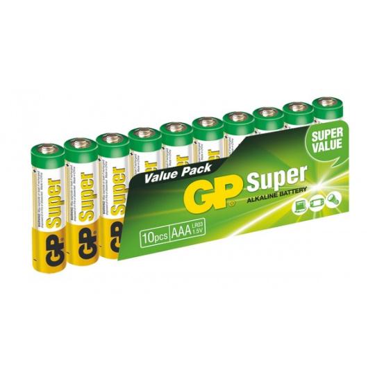 GP LR03, AAA, mikrotužka, 10ks, super alkaline