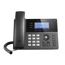 "Grandstream GXP1760, 3,3"" LCD podsv. displej, 3 SIP účty, 6 prog. tlačítek, 24 digital BLF, PoE"