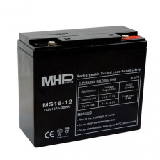 Pb akumulátor MHPower VRLA AGM 12V/18Ah (MS18-12)
