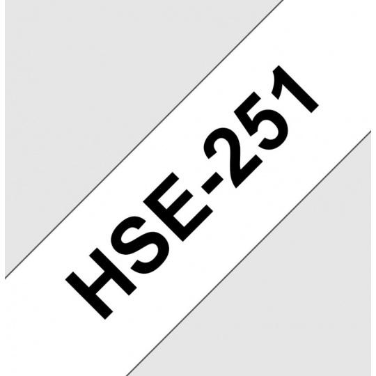 HSE251 smršťovací bužírka, bílá/černá, šíře 23,6mm