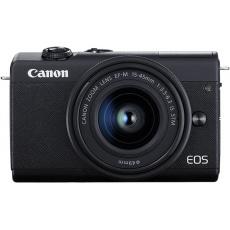 Canon EOS M200 černý+ EF-M15-45mm f/3.5-6.3 IS STM+ EF-M55-200mm f/4.5-6.3 IS STM