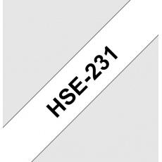 HSE231 smršťovací bužírka, bílá/černá, šíře 11,7mm