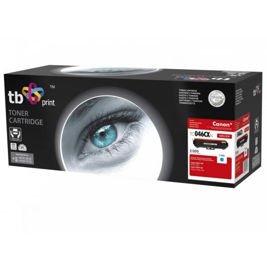 Toner TB kompatibilní s Canon TC-046CXN, Cyan, 5000, new