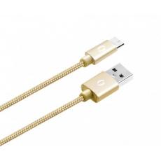 ALIGATOR PREMIUM Datový kabel 2A, Micro USB zlatý