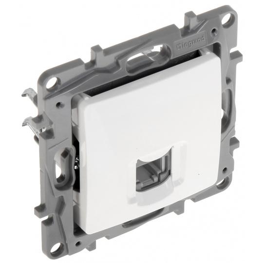 Niloé zásuvka telefonní 1-násobná RJ11 bílá
