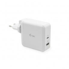 i-tec USB-C Travel Charger 60W + USB-A Port 18W