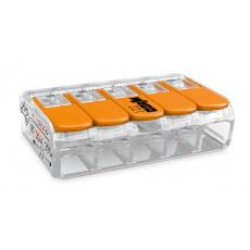 Elektro WAGO Spojovací svorka COMPACT pro všechny druhy vodičů, Max. 4 mm², 5 vodiče s páčkami
