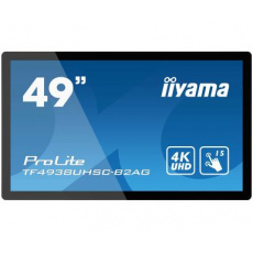 "49"" iiyama TF4938UHSC-B2AG: IPS, 4K, capacitive, 15P, 500cd/m2,VGA, HDMI, DP, DVI, 24/, černý"