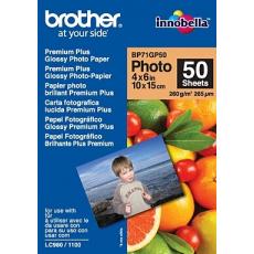 Brother papír BP71GP50, 50 listů, 10x15cm Premium Glossy, 260g