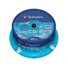 VERBATIM CD-R(25-Pack)Cake/Crystal/52x/700MB