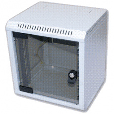 "10"" rack jednodílný 9U/260 TRITON šedý dveře sklo"
