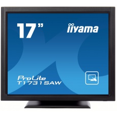 "17"" iiyama T1731SAW-B5: TN, SXGA, SAW, 1P, 250cd/m2, VGA, DP, HDMI, černý"