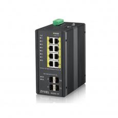 Zyxel 8xGb+4xSFP POE IP30 DIN 240W RGS200-12P