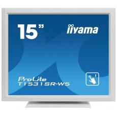 """15"""" iiyama T1531SR-W5 - TN,1024x768,8ms,370cd/m2, 700:1,4:3,VGA,HDMI,DP,USB,repro,výška."""